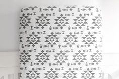 Crib Sheet in White and Gray Navajo // Additional Colors
