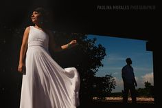 bride and groom, light and shadow