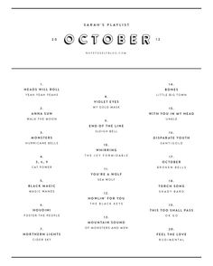 October #playlist from Note to Self