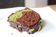Matcha Green Tee and Chocolate Cake