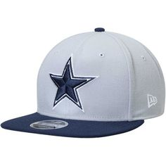 Dallas Cowboys New Era Star Southside Two-Tone 9FIFTY Adjustable Snapback  Hat - Gray Navy 41179eb3a