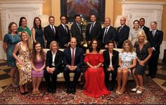 Kate and William with tour staff