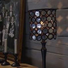 Lees lampskärm av återanvända värmeljuskoppar Tea Lights, Wall Lights, Ceiling Lights, Chandelier Lamp, Light Installation, Modern Industrial, Reuse, Upcycle, Pendant Lighting
