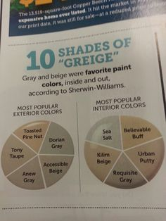 10 shades of Greige...love it.