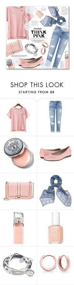 """""""Romwe says THINK PINK !!"""" by jckallan ❤ liked on Polyvore featuring Miss Selfridge, Bobbi Brown Cosmetics, ECCO, Rebecca Minkoff, Alexander McQueen, HUGO, Essie, Lizzy James and Bling Jewelry"""