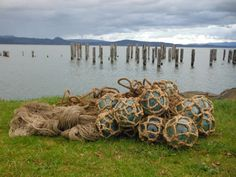 This is an AMAZING opportunity to have an actual Japanese gillnet. This net has 16 glass fishing floats that are all about 4 in diameter. It is