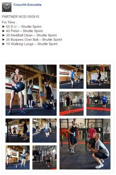 #CrossFitGrenoble #CrossFitVoiron #PartnerWod #WOd