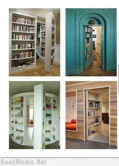 secret rooms in bookcases