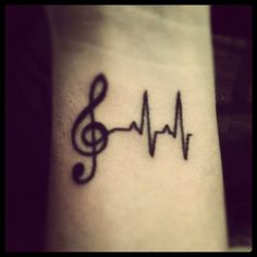 beautiful music tattoo - For the love of music, at its heart is rhythm ~:^D