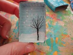 A Creative Dream: Match box ornament.remake using diecut deer and sml tree Matchbox Crafts, Matchbox Art, Altered Tins, Crafts For Kids, Arts And Crafts, Paper Crafts, Holiday Crafts, Christmas Crafts, Small World