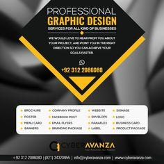 A full list of our graphic design services is below - For your success in business: #Logos #Business_Card_design #Letterhead_Design #Envelope_Design #Brochure_Design #Magazine_Design #Banners_Design #Label_Design #Restaurant_Menu_Design #Company_Profile_Design #Presentation_Folder_Design #Book_Layout #Book_Cover_Design #Advertisement_Design #Ad_Design #Postcards_Mailer_Design #Poster_Design #Event_Invitation #Wedding_Invitation  #Layout_Design #Newspaper_Design #Web_Graphic #Website_Design…
