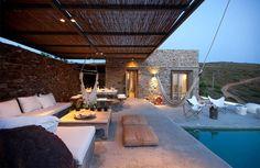 Terrasse couverte maison de vacances à Sifnos