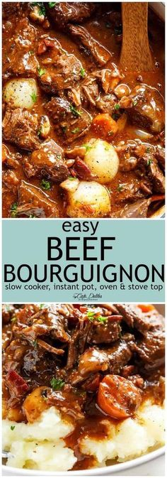 Beef Bourguignon Beef Bourguignon Slow Cooker, Beef Stew Slow Cooker, Beef Burgundy Slow Cooker, Beef Stew Stove Top, Beef Stew Red Wine, Pressure Cooker Recipes Beef, Crock Pot Beef, Pressure Cooker Stew, Slow Cooker Dinners