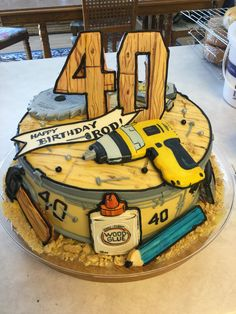 Custom hand cut cookie decorated Tool Cake for a man