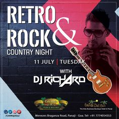 Let's set on that nostalgia trip as we spin for you all the tunes from the good ol' times. Retro Rock & Country Night, this Tuesday at Café Mojo Goa. #Goa #Party.