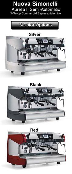 Nuova Simonelli Aurelia II - 3 Color Options  Nuova Simonelli Aurelia Semi-Auto Espresso Machine: