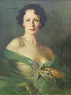 Mária Szantho (Szeged/Ungarn 1897-1998 Nagymágocs), Vornehme Dame