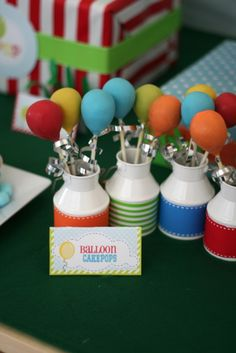 Balloon cake pops at a baby shower! See more party ideas at CatchMyParty! Birthday Cake Pops, 1st Boy Birthday, Birthday Balloons, Shower Party, Baby Shower Parties, Baby Boy Shower, Baby Showers, Circus Theme Party, Carnival Birthday Parties