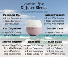 Summer LOVE Diffuser Blends | Essential Well Spring