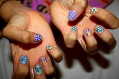 there's a typhoon coming and all i can think about is painting my nails like this