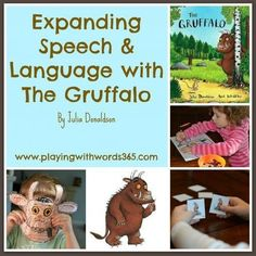Expanding Speech language with Gruffalo. Has a link to free activities--finger puppets, masks and matching cards. Under 'join in', then 'activities' on the Gruffalo website. Gruffalo Activities, Language Activities, Literacy Activities, Therapy Activities, Activities For Kids, Emergent Literacy, Nursery Activities, Literacy Skills, Early Literacy