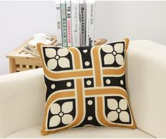Modern Simple Style Decorative Pillows High Quality Linen Cotton Geometric Cushion Cover New Year Decorative For Sofa Pillows