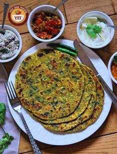 Gujarati Methi Thepla Recipe – Your Food Fantasy – Famous Last Words Methi Recipes, Gujarati Recipes, Veg Recipes, Vegetarian Recipes, Snack Recipes, Cooking Recipes, Healthy Recipes, Recipies, Savory Snacks