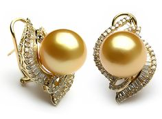 Golden South Sea Pearl Earring, South Sea Pearls