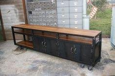 enfilade style industriel bois & métal