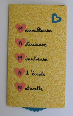Fête des mères 2015 Plus – Best Pins Live Mother Poems, Diy And Crafts, Crafts For Kids, Fathers Day Crafts, Mom Birthday, Birthday Gifts, Photo Craft, Special Gifts, Gifts For Mom