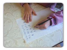position écriture gaucher