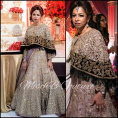 Greyed out lehenga by mischb couture