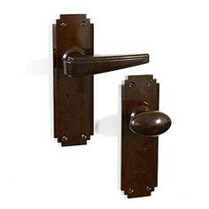 Silver End interior detail: bakelite door handle | Door handles ...