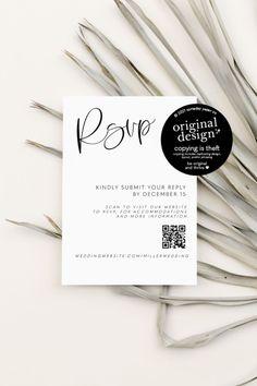 QR Code RSVP Card - printable template