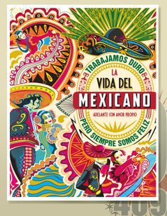 A TRIBUTE TO MY HISPANIC HERITAGE by Orlando Arocena, via Behance