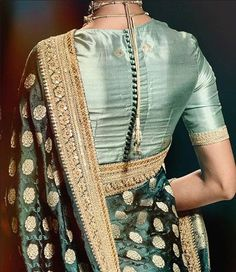 Top Latest and Trendy Blouse Designs For Saree Want to get that stylish look in Saree. Take a look at these stunning and trending blouse designs photos for ultimate style. Pattu Saree Blouse Designs, Silk Saree Blouse Designs, Fancy Blouse Designs, Silk Sarees, Traditional Blouse Designs, Sari Bluse, Stylish Blouse Design, Glamour, Party