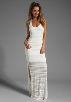 RORY BECA Fleury Side Slit Gown in White - Rory Beca