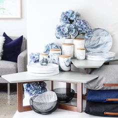 Lots of beautiful things in @cocoandcreme  #habitat101 #homewares #canisters #love #styledatcoco #marble #cushions #wire #basket #summer #styling #luxe #living #home #gifts #grey #navy by habitat101