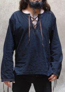 Ancient clothing historical costume man linen shirt , viking inspiration costume