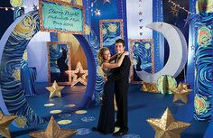 Star-themed party decor, supplies