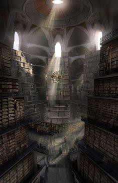 ArtStation - Sam enters the Citadel Library, GoT Season 6, Kieran ...
