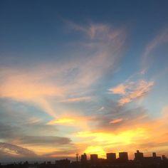 今日の夕方の空 #名古屋