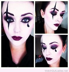 Purple make up inspiration for Halloween