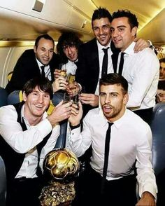 Barca party for mess I winning the ballandor. Old memories