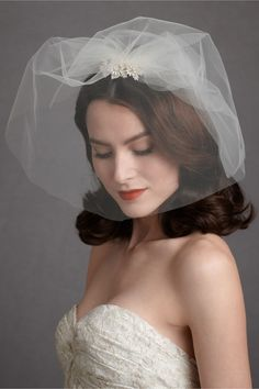 Two-Of-A-Kind Blusher in The Bride Veils & Headpieces at BHLDN