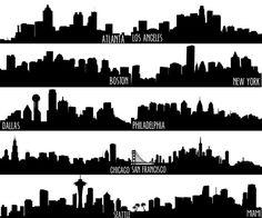 City Skyline Canvas Painting Atlanta by ALoveGreaterThanLife