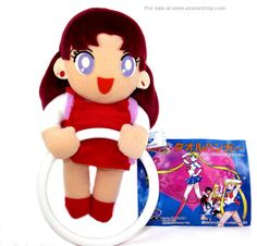 Sailor Moon Sailor Mars Plush Japanese UFO Catcher Towel Holder Tag - Click Image to Close