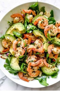 Citrus Shrimp and Avocado Salad! – Romy Galland Citrus Shrimp and Avocado Salad! Citrus Shrimp and Avocado Salad! Shrimp Avocado Salad, Avocado Salad Recipes, Shrimp Salad Recipes, Salad With Shrimp, Seafood Salad, Avocado Food, Avacado Meals, Arugula Salad, Cucumber Salad