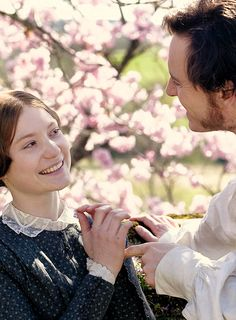 Mia Wasikowska and Michael Fassbender, in 'Jane Eyre'