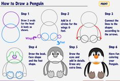 How to draw a penquin